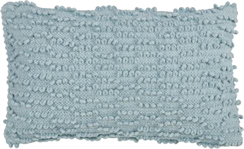 "SARO LIFSTYLE Nubby 抱枕,带羽绒填充 水* 12"" x 20"" 5810.A1220B"