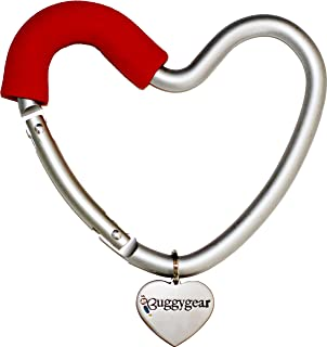 Buggygear 婴儿车用钩 Buggy Heart Hook 心形挂钩 红色