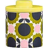Orla Kiely OK612 Storage Jar-Scallop Flower Forest 厨房,陶瓷