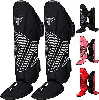 Mytra Fusion 成人护胫垫,护胫,适用于拳击的护腿,MMA,泰拳,武术训练