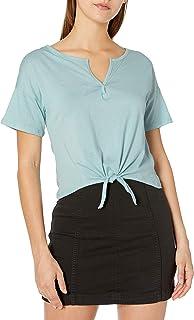 Tresics 女士时尚基本款青少年开领前系带露脐上衣