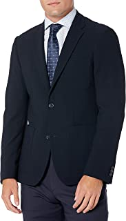 Perry Ellis 男式修身纹理弹力夹克