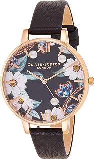 Olivia Burton 女士模拟石英表皮表带 OB16BF04