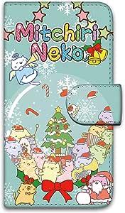 Miriko猫 印花翻盖 滑雪窗帘 保护壳 翻盖式WN-LC381055-MX 1_ iPhoneX スノードームA