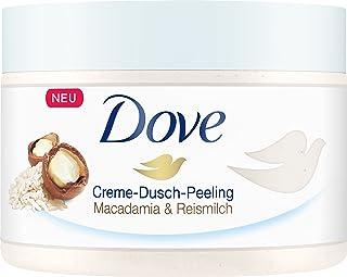 Dove 多芬 Dusch-Peeling 奶油淋浴磨砂膏 含有澳洲坚果和米浆,4瓶装(4 x 225ml)
