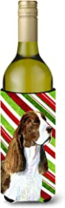 Springer Spaniel Candy Cane Holiday Christmas Michelob Ultra Koozies for slim cans SS4582MUK 多色 750 ml