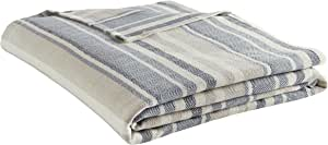 Eddie Bauer 213123 Herringbone Blanket, Full/Queen, Blue Stripe