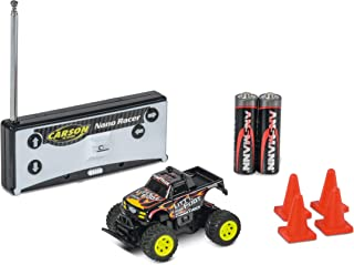 Carson 1:60 Nano Racer Little Foot MHz * RTR,遥控汽车,遥控车,包括电池和遥控器,行驶时间8分钟,500404184,黑色