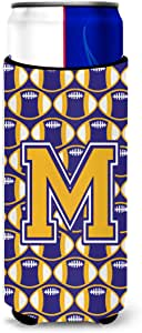 字母 M 橄榄球紫色和金色 Ultra 饮料绝缘器 适用于纤薄罐 CJ1064-MMUK