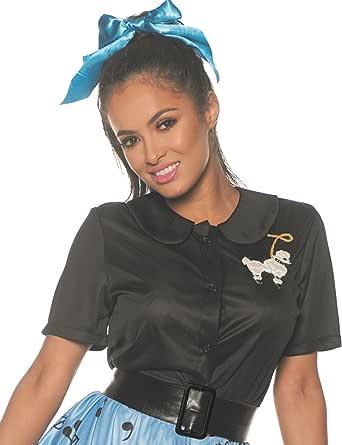 50' s 贵宾犬衬衫 黑色 X-Large