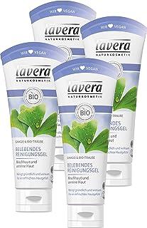 Lavera 拉薇清新清洁凝胶,彻底有效清洁,焕然一新的皮肤感觉,适用于混合性皮肤和粉刺皮肤,洁面用。纯植物性✔有机✔天然保养品✔ 天然✔面部护理 4支组(4X100毫升)