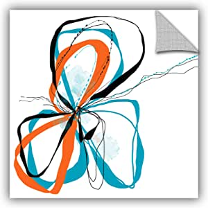 "ArtWall Jan Weiss's Ribbons Removable Wall Art Mural, 14"" x 14"""
