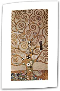 Art Wall Tree of Life 12 by 24-Inch Flat/Rolled Canvas by Gustav Klimt with 2-Inch Accent Border