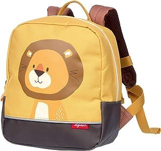 SIGIKID 女孩和男孩,儿童背包带动物主题狮子森林,推荐2-5 岁儿童,黄色,25116