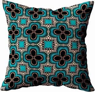 Musesh monarch 蝴蝶抽象风格靠垫枕套沙发家居装饰枕套礼品创意家庭枕套拉链枕套 40.64X40.64cm