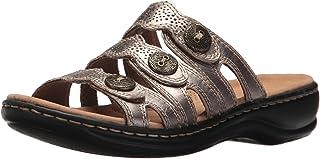 Clarks 女式 Leisa Grace 平底凉鞋