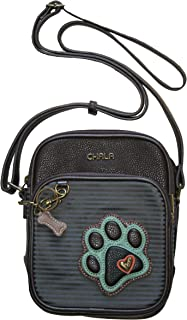 Chala Paw Print Organizer Crossbody Handbag - Dog Lovers Gift