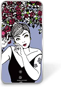 majocco 壳 透明 硬质 印刷 玫瑰和短款WN-LC825610 4_ AQUOS Xx 304SH バラとショートカットC