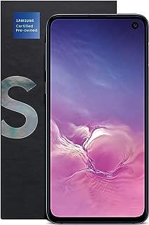 三星 Galaxy S10e 认证二手解锁手机,128GB 和 12 个月美国保修,黑色(已售)