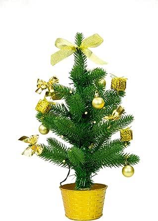 Best Season LED 圣诞树带装饰,金,约 45 厘米,塑料,绿色,20 x 20 x 45 厘米