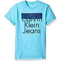 Calvin Klein 男孩 POP UP 标志圆领 t 恤