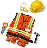 Melissa & Doug 96020 Construction Worker Role Play Set, 3T-6T, Multicolor