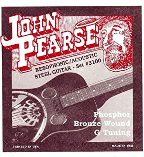 John Pearse JP3100 声波原声钢吉他青铜假发G调音器