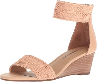 Lucky Brand 女士 Joshelle 坡跟凉鞋 琥珀色灯 8 M US