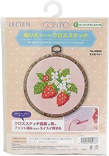 LECIEN 手艺套件 仿佛像温暖的十字绣 莓红色(草莓)