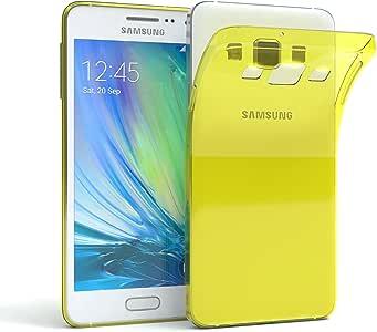 Galaxy A3 手机壳 - EAZY CASE 优质三星 Galaxy A3 硅胶缓冲垫,防震超薄套 - 各种类型和颜色的智能手机壳620715 黄色