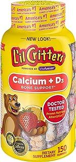 L'il Critters 儿童钙质熊软糖,含维生素D3补充剂,150粒软糖