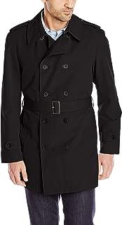 Stacy Adams 男式加大加长条纹双排扣雨衣
