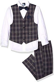Nautica 男婴套装,带背心、裤子、衬衫和领带