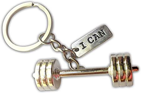 Barbell and I can Keychain Big Barbell 1
