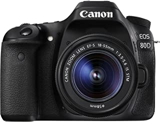 Canon EOS 80D Digital SLR Camera with 18-55 mm IS STM Lens