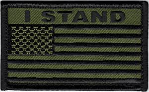 Eagle Crest I STAND 美国国旗 5.08 cm x 7.62 cm 钩环 2 片贴片