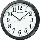 セイコークロック 掛け時計 黒 本体サイズ:直径28×4.8cm 電波 アナログ コンパクトサイズ 値札なし BC404K