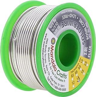 Rosin 核心焊线,适用于电子、连接器、PCB 焊接;Mandala Crafts 出品 100g 1.5mm Lead Free Solder