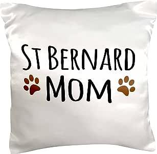 inspirationz Store PET 设计–ST 伯纳德狗妈妈–SAINT doggie BY breed–泥泞棕色爪印–狗狗爱好者–萌宠主人–枕套