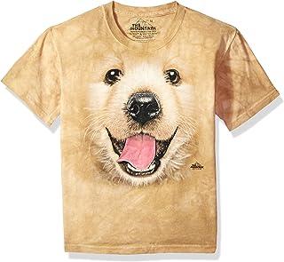 The Mountain Little Bf Golden RETR 小狗儿童 T 恤