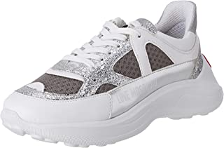 Love Moschino 女式 Scarpad.running60 Rete+glitt+agraphlam 体操鞋