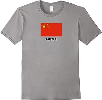China National Flag T-shirt Chinese National Flag T-shirt 蓝灰色 Male XL