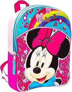 Disney 米妮迷你幼儿学龄前背包(11 英寸)(米妮老鼠学校用品包)