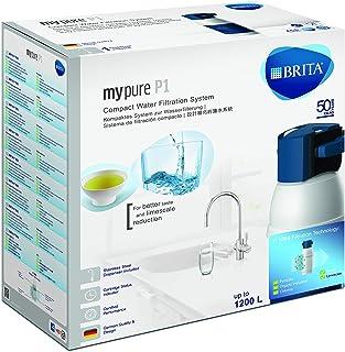 BRITA 碧然德 厨房龙头,带有 mypure P1 式集成滤水器,减少水垢,氯和异味