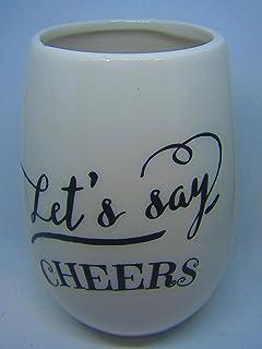 Lets Say Cheers 陶瓷不锈钢*杯厨房装饰