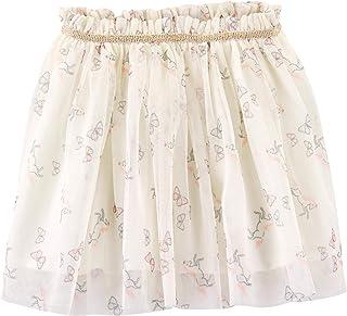 Carter's 卡特女童独角兽和蝴蝶薄纱芭蕾舞短裙象牙色弹性束腰带,12 个月