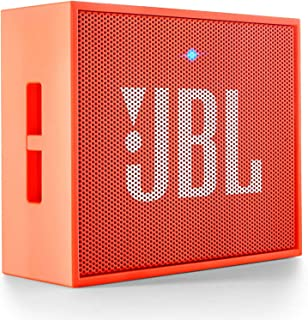 JBL Go Ultra Portable Rechargeable Bluetooth Speaker with Aux-In Compatible - Orange
