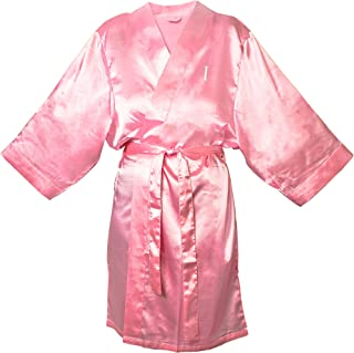 Cathy's Concepts Personalized Satin Robe, 1X-Large/2X-Large, Monogrammed Letter I, Light Pink