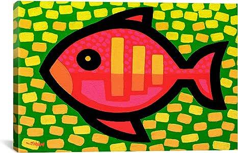 iCanvasART JNN2 Big Fish by John Nolan Canvas Print, 18 by 12-Inch, 0.75-Inch Deep