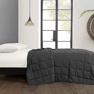 Well Being 加重毯带玻璃珠,适用于床或沙发 灰色 48x72 WK630904